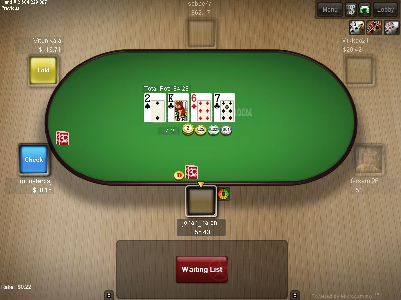 Limit poker buy in